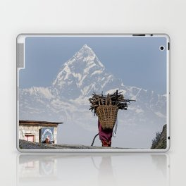 WOOD CARRIER AND MACHAPUCHARE IN NEPAL Laptop & iPad Skin