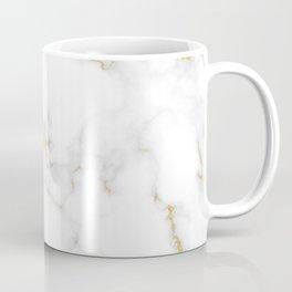 Fine Gold Marble Natural Stone Gold Metallic Veining White Quartz Coffee Mug