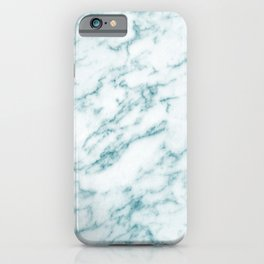 Ribbons of Aqua and White Marble iPhone Case