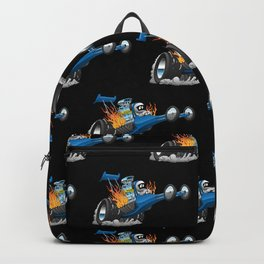 Top Fuel Dragster Cartoon Backpack