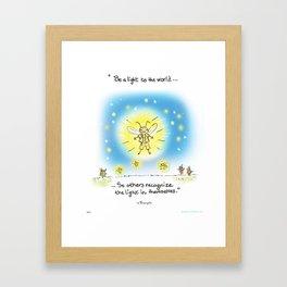 Firefly-Be Light  Framed Art Print