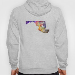 Maryland US State in watercolor text cut out Hoody