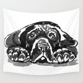 Black Lab - front view Wall Tapestry