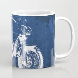 Motorcycle blueprint,2010, Moto Guzzi Stelvio, 1200 4V,poster,man cave decoration,vintage art Coffee Mug