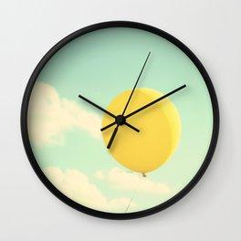 yellow balloon Wall Clock