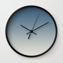 Blue & Linen White Gradient Ombre Blend Pairs To 2020 Color of the Year Chinese Porcelain PPG1160-6 Wall Clock