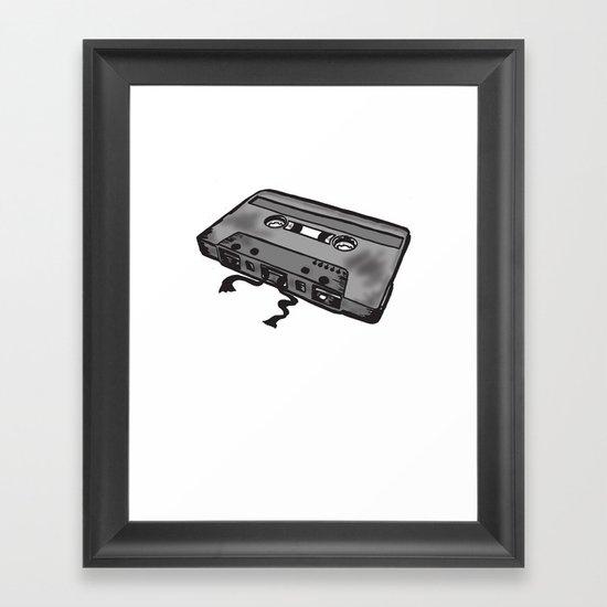 Death of a MixTape! Framed Art Print