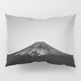 Mount Fuji Volcano in Grayscale Pillow Sham