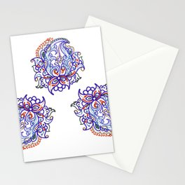 traditional paisley in modern style Stationery Cards