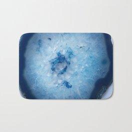 Icy Blue Agate Slice Bath Mat