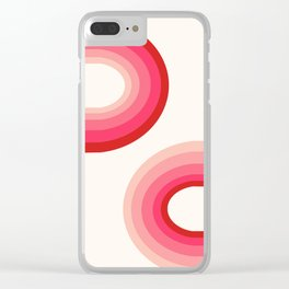 Funky - 70's style trendy throwback retro gifts 1970s abstract art Clear iPhone Case