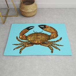 Stone Rock'd Stone Crab By Sharon Cummings Rug
