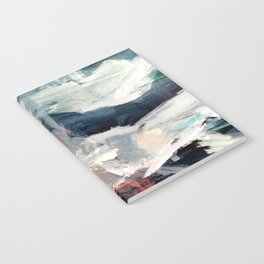 Eye of the Storm [2] - abstract mixed media piece in blues, white, and red Notebook
