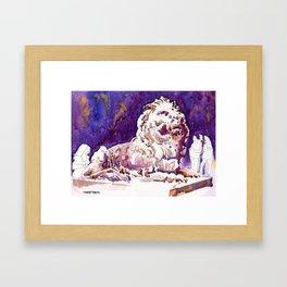 20170101 Stephen HSBC Lion Framed Art Print