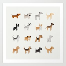 Lots of Cute Doggos Art Print