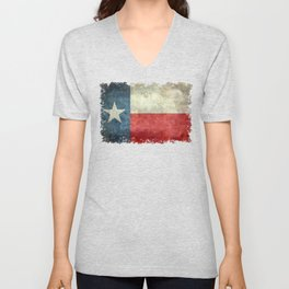 Texas State Flag, Retro Style Unisex V-Neck
