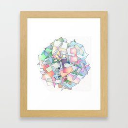 Intersection of Form and Color Framed Art Print
