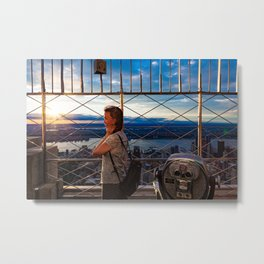 Smiling on the top Metal Print