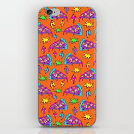 Crazy space alien pizza attack! #2 iPhone Skin
