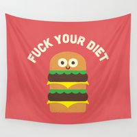mac Wall Tapestries featuring Discounting Calories by David Olenick