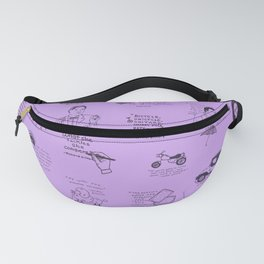 Gilmore Girls Quotes in Purple Fanny Pack