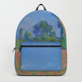 Poppy Field - Giverny Landscape Painting by Claude Monet Backpack