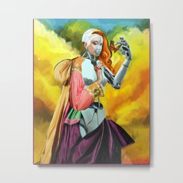An Android in Nature Metal Print