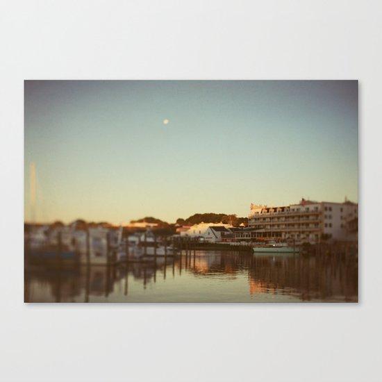 Harbor Moon Canvas Print
