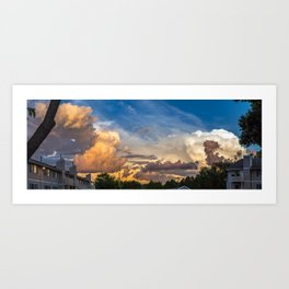Intense Clouds Art Print