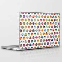 foo fighters Laptop & iPad Skins featuring Street Fighters by Kid Khronos