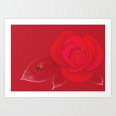 Rosa Ingrid Bergman Art Print
