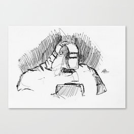 Warbot Sketch #010 Canvas Print