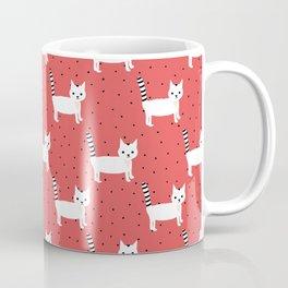 Cats on Red Coffee Mug
