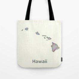 Hawaii map Tote Bag
