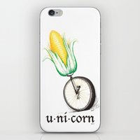 unicorn iPhone & iPod Skins featuring Unicorn by TheCore