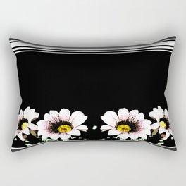 Flowers - Light Pink Rectangular Pillow