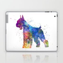 Giant Schnauzer 01in watercolor Laptop & iPad Skin