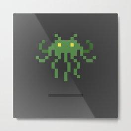 Cthulhu Invader Metal Print