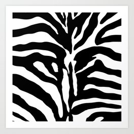 Black and white Zebra Stripes Design Art Print