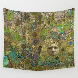 Into the Woods Abstract Art Collage Wall Tapestry