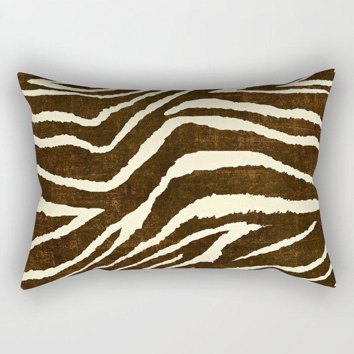 ZEBRA IN WINTER BROWN AND WHITE Rectangular Pillow