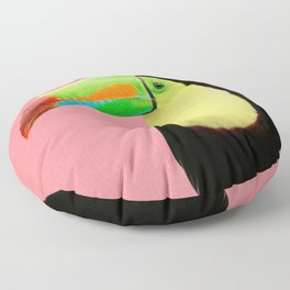 Toucan Bird - Pink Floor Pillow