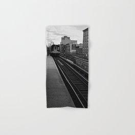 Black and White J Train Hand & Bath Towel