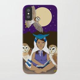 Owl Girl iPhone Case
