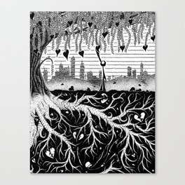 Composting Canvas Print