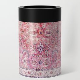 N45 - Pink Vintage Traditional Moroccan Boho & Farmhouse Style Artwork. Can Cooler
