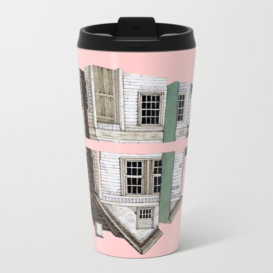 pink house!!! Metal Travel Mug
