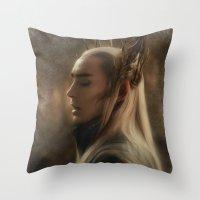 thranduil Throw Pillows featuring Thranduil by Andi Robinson