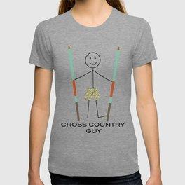 Funny Mens Cross Cuuntry Ski Guy T-shirt