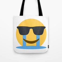 Sob Sunglasses Emoji Tote Bag